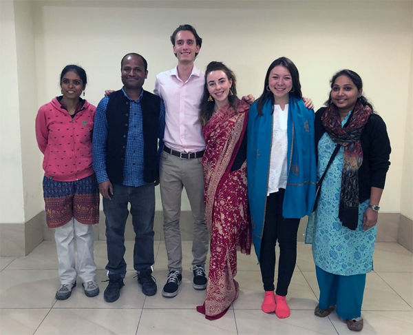 Students with Jamghat staff
