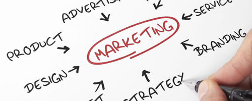 Arrows pointing to marketing