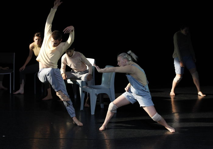 James Batchelor and Amber McCartney in A Ceremony of Senses, choreographed by Larissa McGowan. Image: Jeff Busby, 2012.